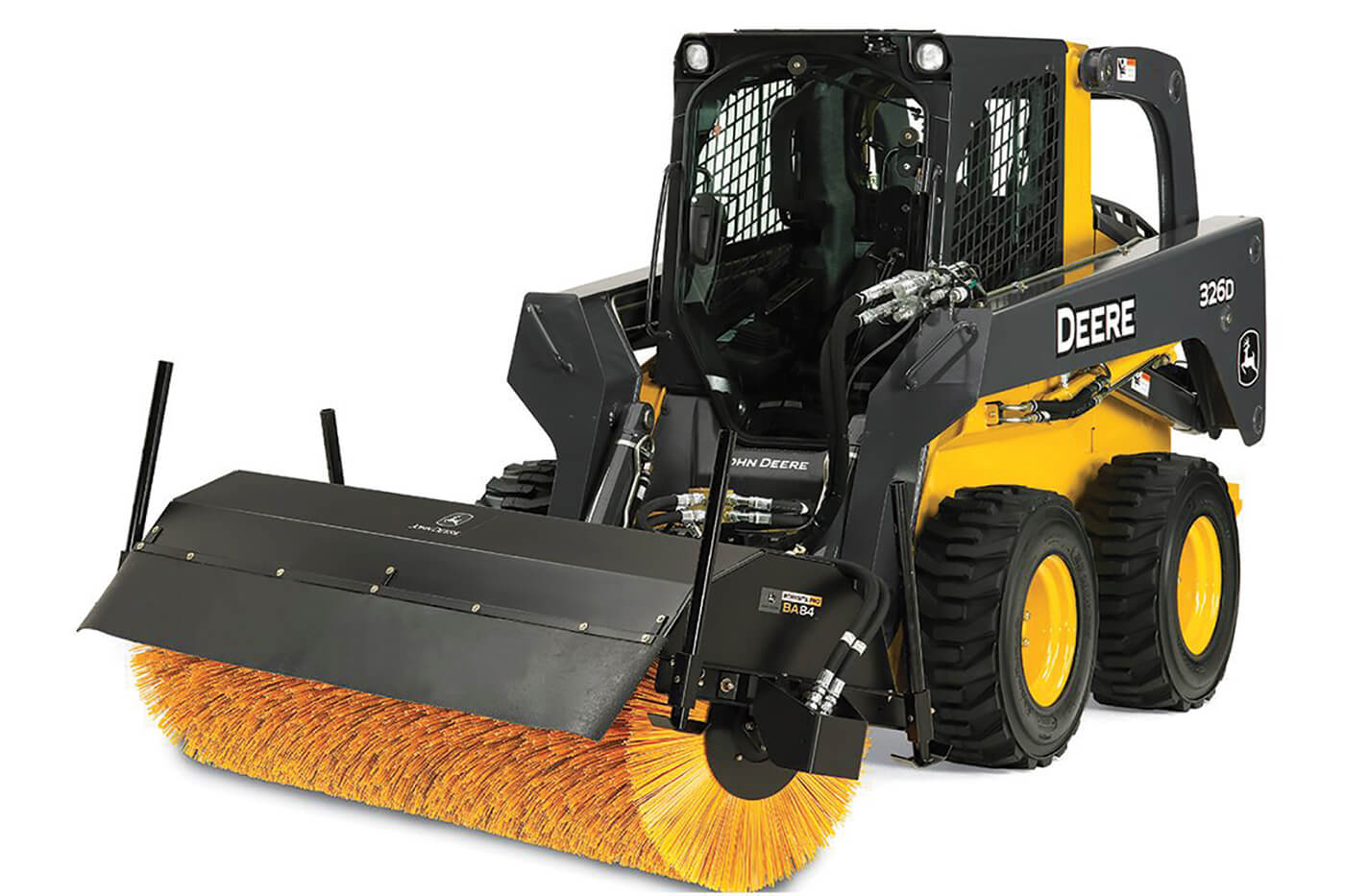 skid steer with broom attachment