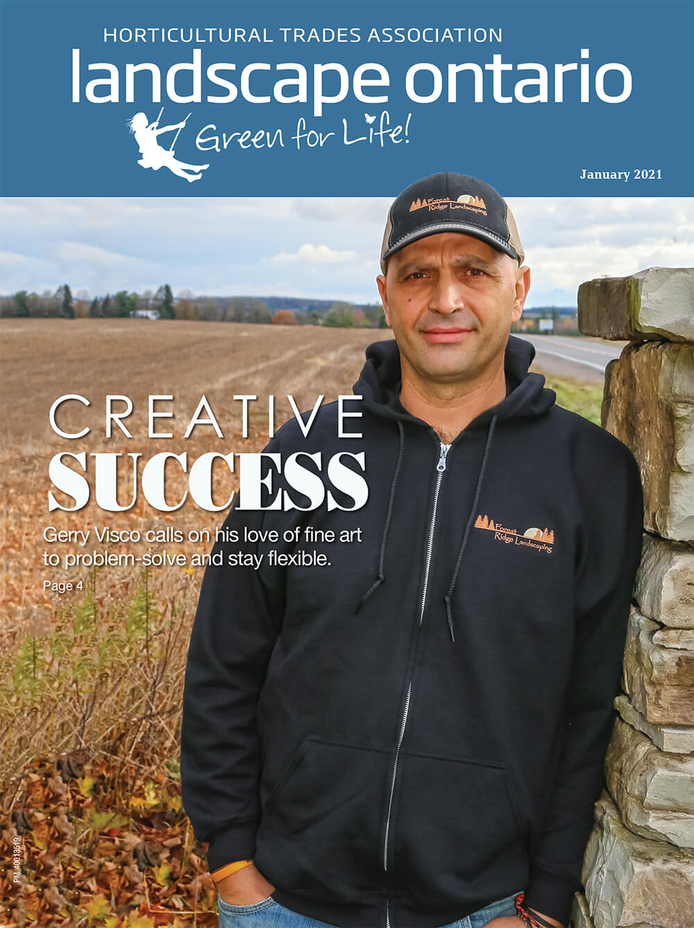 Cover of Landscape Ontario magazine January 2021