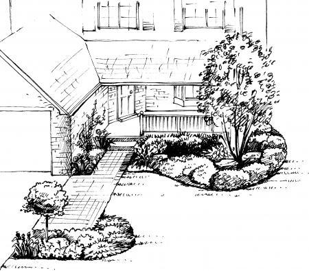 Front yard landscape design a sample shopping list 2 for Sample landscape plan