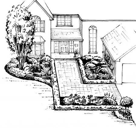 Front Yard Landscape Design A Sample Shopping List 3