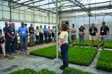 The tour took a look at Sheridan Nurseries' production facilities.