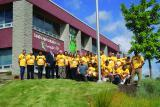 LO home office raised the Dig Safe flag to mark Dig Safe Month in Milton with Acting Mayor Cindy Lunau in attendance.