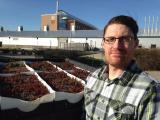 Tyson Jennett is working on a green roof substate that will retain phosphates.