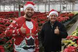 A thumbs up from eieihome's Adam Brandon (left) and LO's Denis Flanagan in between filming at Tree Valley Garden Centre in Stouffville, Ont.