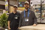 Ben and Nick Fraser at the Sarnia Home Show, proudly displaying their LO member status.