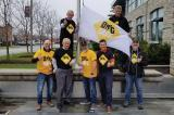 The Dig Safe flag was hoisted at Milton Town Hall on May 1.