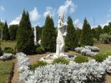 The White Garden features elegant statuary.