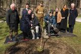(Seated L-R) Second World War veterans Lawrence Tomkins and Michael Boyer were present for a special tree planting in Toronto.