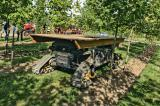 A mobile tree pruning platform is used at Stam Nurseries.