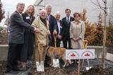 A ceremonial tree planting at the Coroner's Office Complex in Toronto on Nov. 6 began the Highway of Heroes campaign to plant 117,000 trees along Hwy. 401. In photo, from left, are some of those who took part in the Toronto ceremony, Mark Cullen, chair of the Campaign; Paula Berketo, of the Ministry of Transportation; Ken Jewett, Maple Leaves Forever; Rob Keen, Forests Ontario; Tony DiGiovanni and Dave Braun, both representing Landscape Ontario, and Eleanor McMahon, Burlington MPP and Parliamentary Assistant to the Ministry of Natural Resources and Forestry.