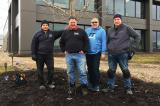 Landscape Ontario Landscape Lighting Group members Carl Hastings, Frank DiMarco, Ken Martin and John Higo.
