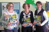 Garden Inspiration magazine is packed full of valuable information. The magazine is written and produced by your LO publishing team, from left, Sarah Willis, editorial director, Kim Burton, art director, and Lee Ann Knudsen, publisher.