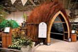 Landscape Ontario's Green for Life garden at Canada Blooms had a distinctive look this year with the willow arbour greeting visitors.