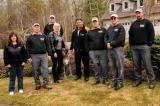 DiMarco Landscape Lighting crew. From left, Laurie Barnes, Joe Willemse, Nick Brazier, Theresa DiMarco, Frank DiMarco, Stew Dunn, Wyatt Lambert and Kevin Mitchell.