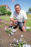 Trial Garden Manager Rodger Tschanz says some great new colours are featured in new petunias being trialed at the LO home office in Milton. See them for yourself on Aug. 21 at the open house.