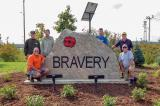 Along with being a major partner in the London Veterans Memorial Parkway project, the London Chapter members have also added their own personal touch — such as the Bravery garden.