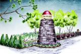 A dry stone lighthouse will be one of the main attractions at this year's LO garden.