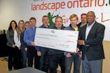 A few members of the Landscape Ontario Safety Group were on hand Nov. 22 to accept a cheque for over $50,000, which was divided among the member companies.
