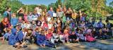 Over 200 students at Barrie's Cundles Heights Public School joined Georgian Lakelands Chapter members to plant four sugar maples on National Tree Day.