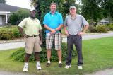 The Upper Canada Golf Tournament took place at the Loyalist Golf Club in Bath with about 50 golfers taking part this year. In photo, from left, Ernest Williams from Aquascape, with member of the Chapter golf committee Stephen Poole of Connon Nurseries/CBV, Trenton, and Mark Norris from EMC, a local community newspaper.