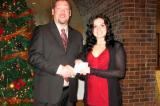 David Wright presents the first Waterloo Chapter scholarship to recipient Brandy Suchostowsky.