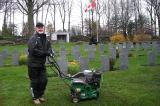 "Taking part in the Day of Tribute, John Brand from Green Unlimited, said, ""The men and women here paid the ultimate price to ensure our safety and freedom, and deserve a well maintained final resting place; this is one small way that our landscaping community can provide this along with our respect, admiration and thanks."""