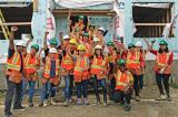 The staff at Decker Canada donated both time and skills for their ninth build to help Habitat for Humanity.