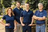 Jessica, Gordon, Conor and Danny Milligan from Strathmore Landscape Contractors.