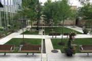 The rejuvenated Healing Garden at Southlake Regional Health Centre in Newmarket, Ont.