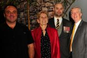 Canada Blooms began with an event in the Highway of Heroes Living Tribute garden where Ontario Premier, Kathleen Wynne (centre) announced the province will contribute $1 million to the HOHLT campaign. Wynne is pictured with garden builder, Joe Genovese (left), volunteer fundraiser, Cpl. Nick Kerr, and founder, Mark Cullen.