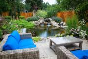 Genoscape specializes in environmentally responsible landscapes and often incorporate ponds and water features in their designs.
