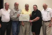 (L-R): Gerald Reycroft, Martin Quinn, Bob Allen, Paul Ronan and Ray Hurd display the cheque after a recent CiB board meeting.