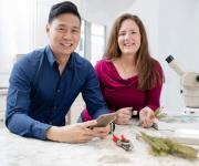 Co-authors Dave Cheung and Jen Llewellyn are very excited about the launch of their new app, BugFinder.