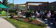 About 100 people attended the unveiling of the garden.