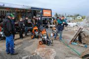 Participants got a chance to use Stihl power washers, blowers, trimmers and chain saws at the LO site in Milton.