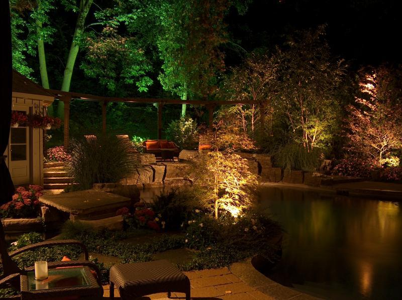 2006 - Landscape Lighting Design & Installation - Over $30,000 - *Back Yard Pool & Trees (*Plaque)
