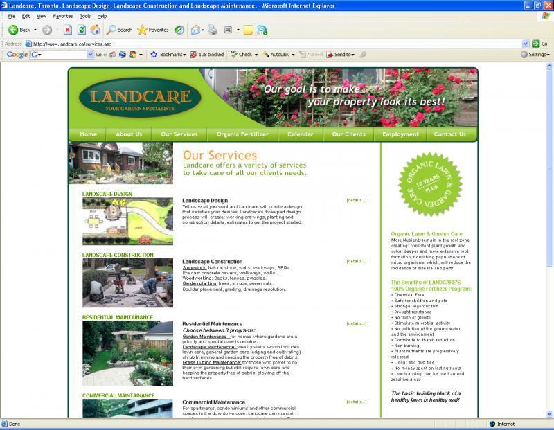 2007 - Web Sites  - landcare services