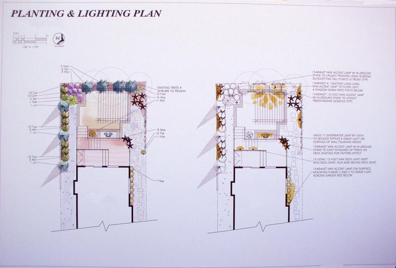 2007 - Private Residential Design - Under 2500 sq ft - Planting & Lighting Plan