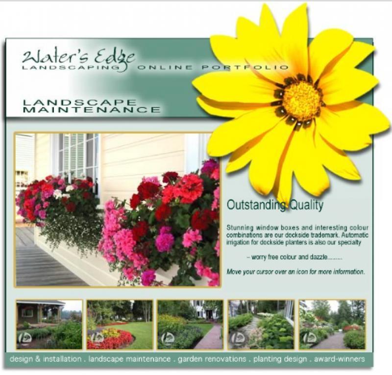 2008 - Web Sites  - landscape maintenance page