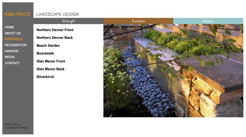 2008 - Web Sites  - Kim Price website 2
