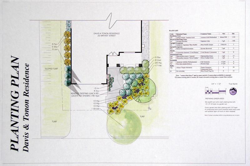 2008 - Planting Design - Less Than 10% Construction - Front yard planting plan