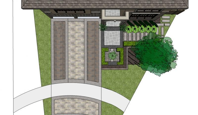 2009 - Private Residential Design - Under 2500 sq ft - Plan View Computer Render