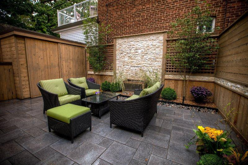 2010 - Residential Construction - $25,000 - $50,000 - the finished outdoor ' living room ' with umbriano paving by Unilock