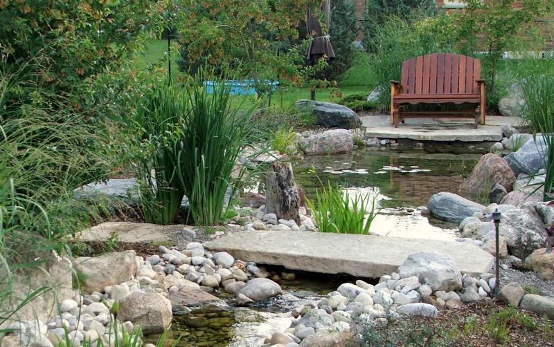 2010 - Water Features  - 12 bridge over stream