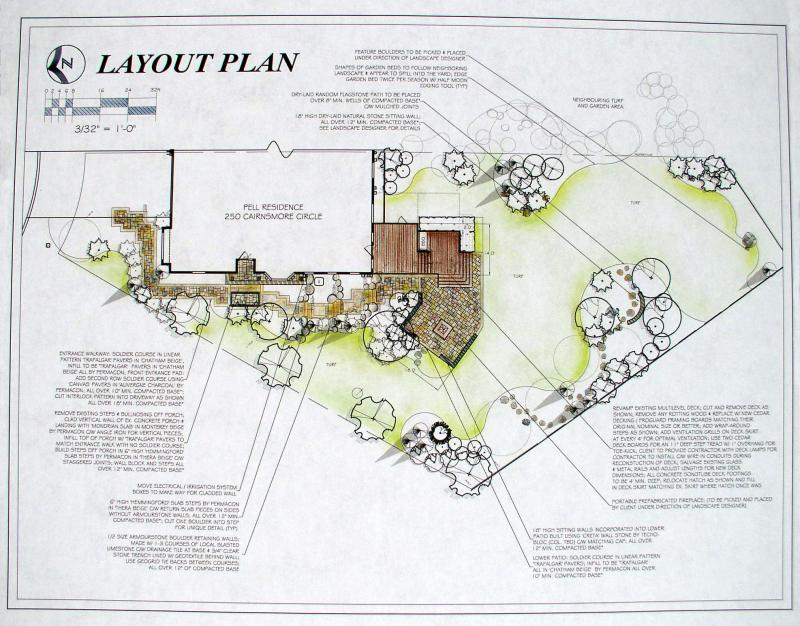 2010 - Private Residential Design - 5000 sq ft or more - Pell Residence, Layout Plan Board