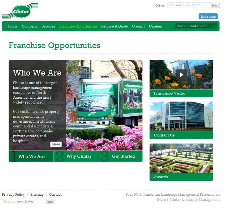 2011 - Web Sites  - Clintar.com Franchise Page