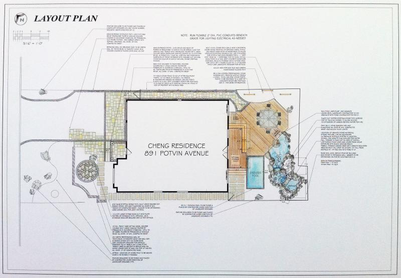 2011 - Private Residential Design - Under 2500 sq ft - Cheng Residence - board- layout plan
