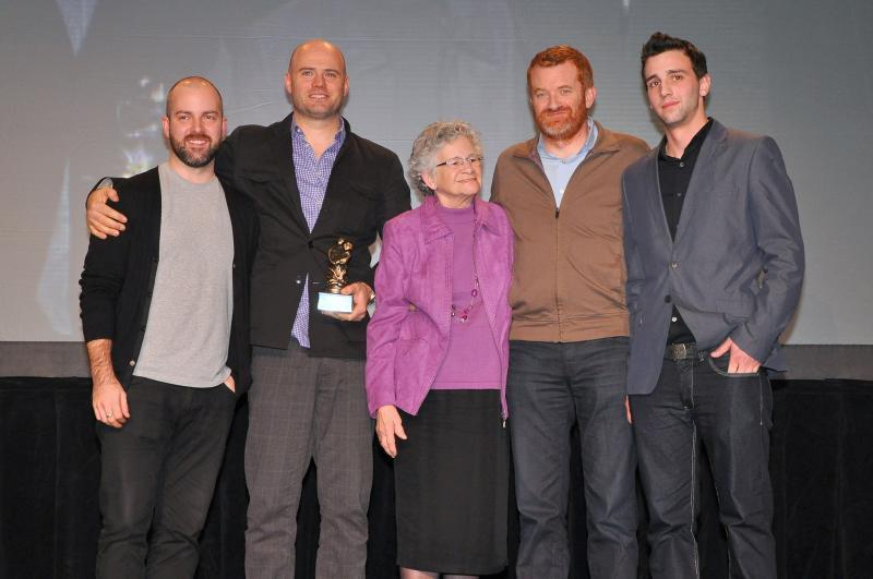 2011 - Casey van Maris Award - Earth Incorporated accepting the Casey van Maris Award