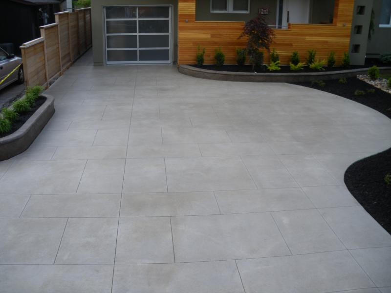 2013 - Special Interest Construction  - Decorative concrete driveway made to resemble real limestone