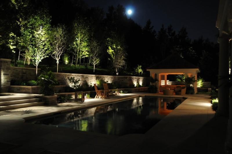2012 - Landscape Lighting Design & Installation - Over $30,000 - Back Yard Pool **(Plaque)